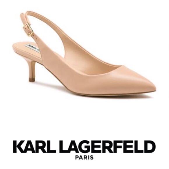 957c9c2473f Karl Lagerfeld Shoes - Karl Lagerfeld Lily Low Kitten Heel Slingback